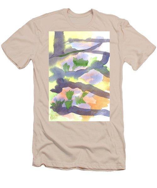Springtime Wildflower Camouflage  Men's T-Shirt (Slim Fit) by Kip DeVore