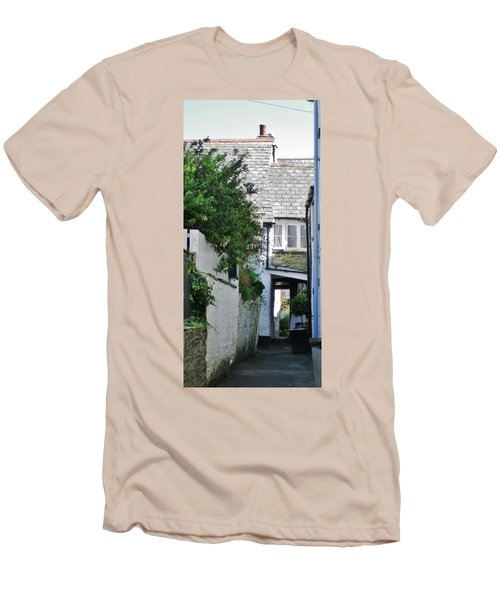 Squeeze-ee-belly Alley Men's T-Shirt (Slim Fit) by Richard Brookes