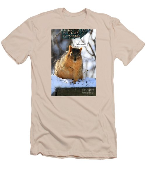 Squirrel Guilty By Association Men's T-Shirt (Athletic Fit)