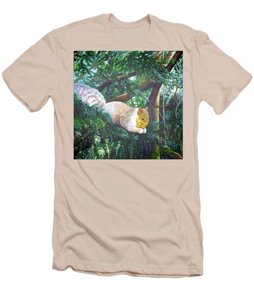 Squirrel Snacking Men's T-Shirt (Athletic Fit)