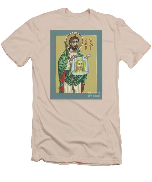 Men's T-Shirt (Athletic Fit) featuring the painting St Jude Patron Of The Impossible 287 by William Hart McNichols