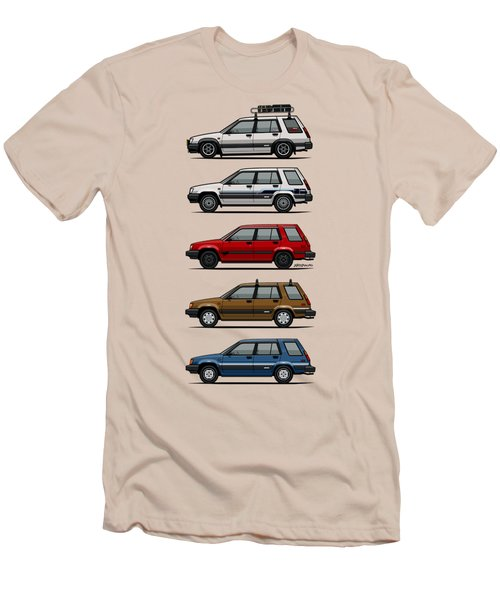 Stack Of Toyota Tercel Sr5 4wd Al25 Wagons Men's T-Shirt (Slim Fit) by Monkey Crisis On Mars