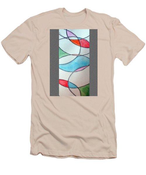Stain Glass Men's T-Shirt (Slim Fit) by Loretta Nash