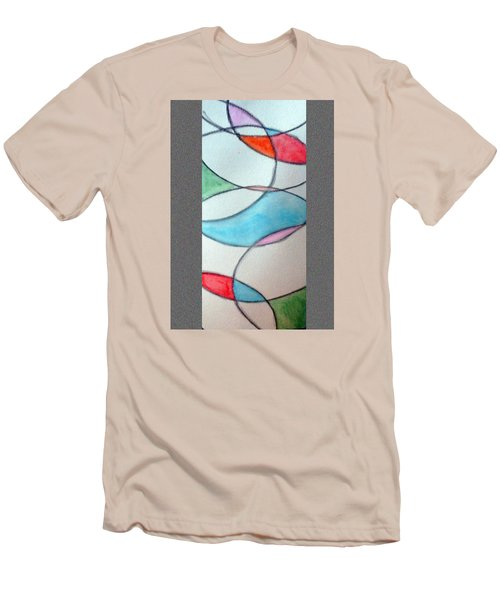 Stain Glass Men's T-Shirt (Athletic Fit)