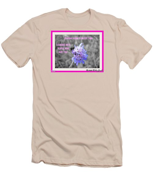 Men's T-Shirt (Slim Fit) featuring the digital art Standing Alone by Holley Jacobs