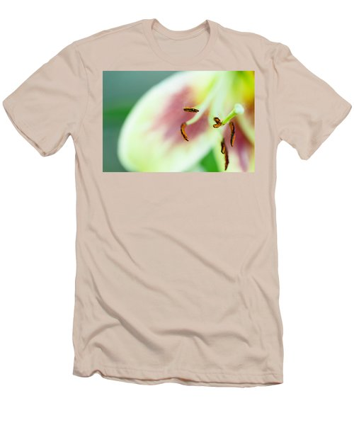 Stargazer Lily Men's T-Shirt (Slim Fit) by Marlo Horne