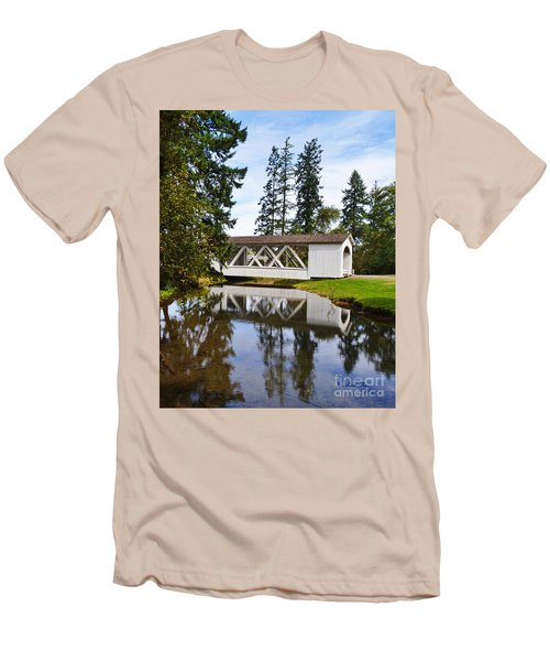Stayton-jordon Covered Bridge Men's T-Shirt (Athletic Fit)