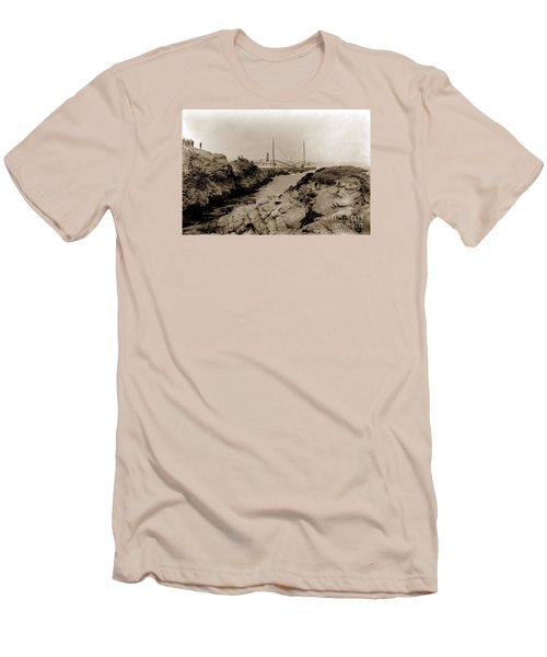 Steam Schooner S S J. B. Stetson, Ran Aground At Cypress Point, Sep. 1934 Men's T-Shirt (Slim Fit) by California Views Mr Pat Hathaway Archives