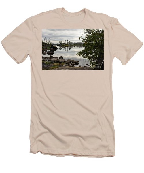Men's T-Shirt (Slim Fit) featuring the photograph Steely Day by Larry Ricker