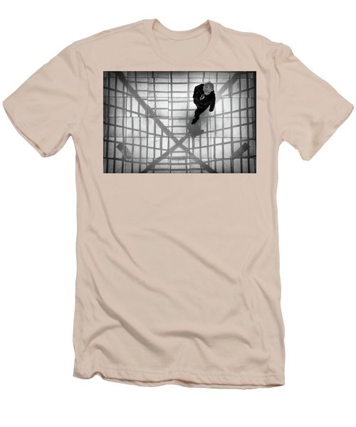 Men's T-Shirt (Athletic Fit) featuring the photograph Stepping Into The Web by John Williams