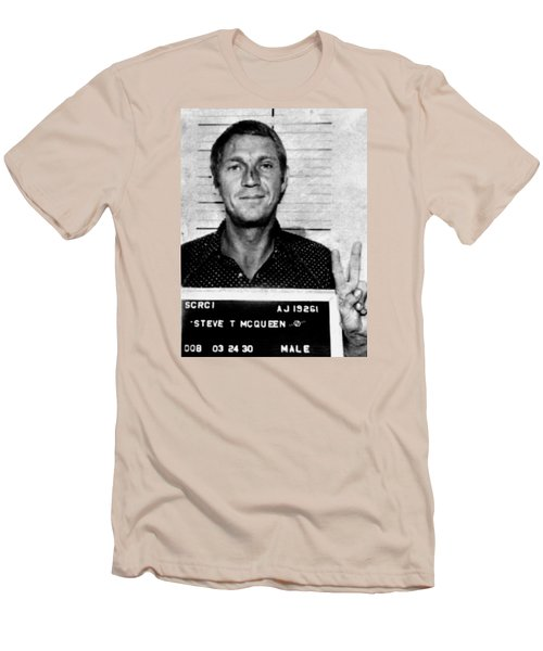 Steve Mcqueen Mug Shot Vertical Men's T-Shirt (Athletic Fit)