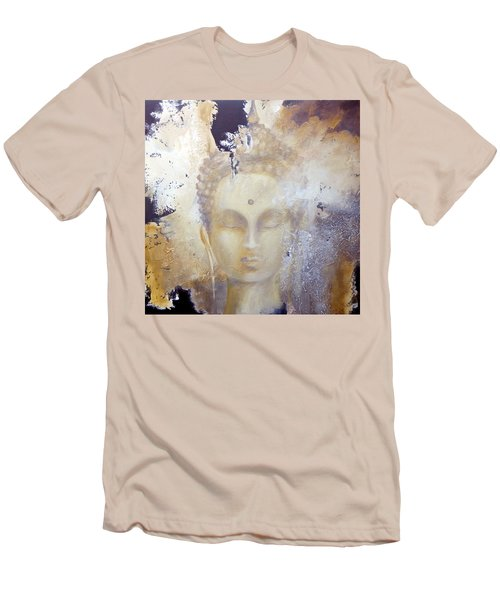 Stone Buddha Men's T-Shirt (Slim Fit) by Dina Dargo