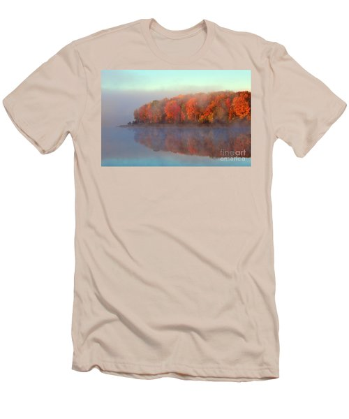 Stoneledge Lake Pristine Beauty In The Fog Men's T-Shirt (Athletic Fit)