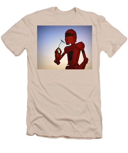 Men's T-Shirt (Athletic Fit) featuring the photograph Stop And Smell The Daisies by AJ Schibig