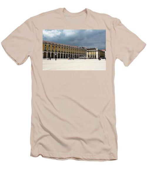 Storm Brews Over Commerce Square Men's T-Shirt (Athletic Fit)