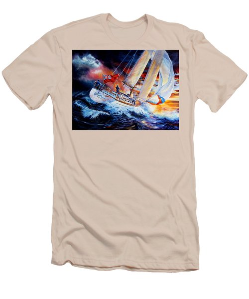 Men's T-Shirt (Athletic Fit) featuring the painting Storm Meister by Hanne Lore Koehler