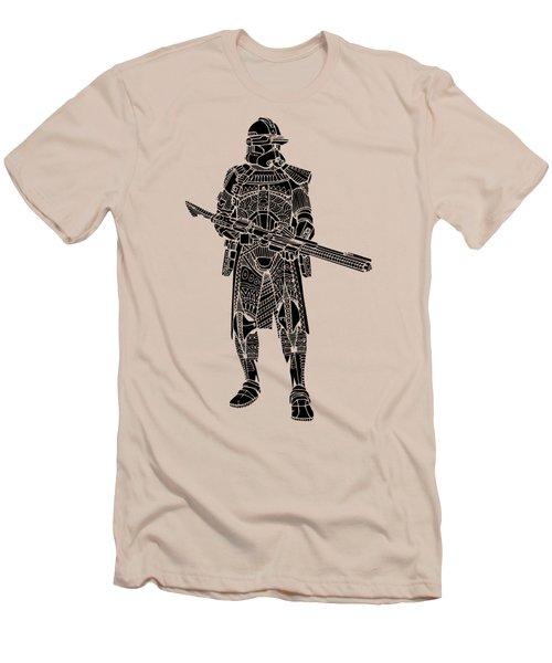 Stormtrooper Samurai - Star Wars Art - Black Men's T-Shirt (Athletic Fit)