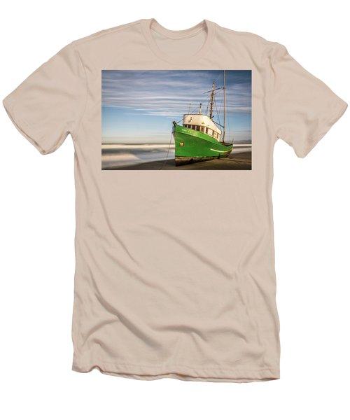 Stranded On The Beach Men's T-Shirt (Slim Fit) by Jon Glaser