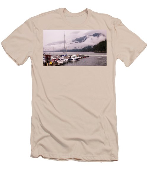 Stratus Clouds Over Horseshoe Bay Men's T-Shirt (Athletic Fit)