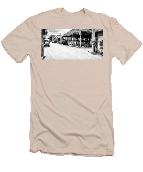 Street Scene On Caye Caulker Men's T-Shirt (Athletic Fit)