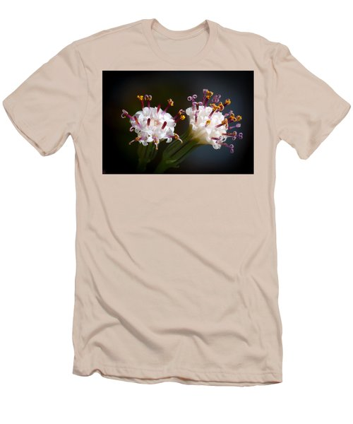 Men's T-Shirt (Slim Fit) featuring the photograph String Of Pearl Succulent Flowers by Catherine Lau