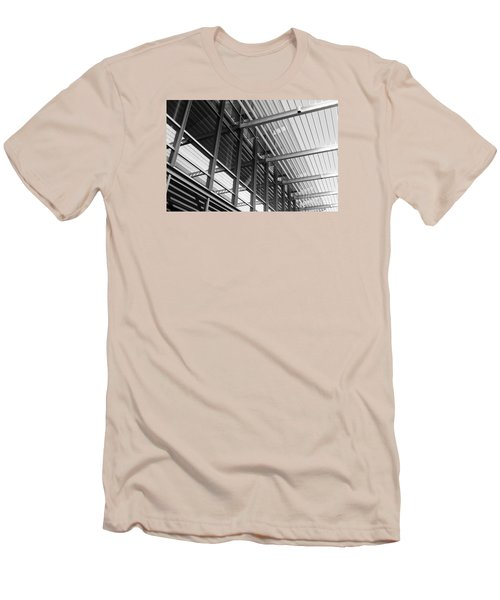 Men's T-Shirt (Slim Fit) featuring the photograph Structure Abstract 9 by Cheryl Del Toro