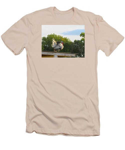 Men's T-Shirt (Slim Fit) featuring the photograph Strutting His Stuff by Brenda Pressnall
