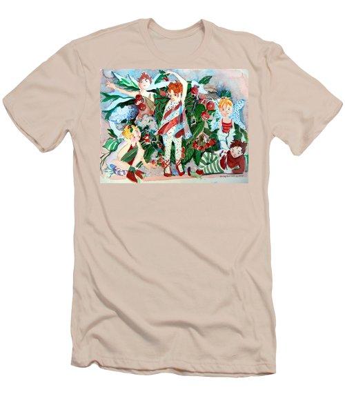 Sugar Plum Fairies Men's T-Shirt (Slim Fit) by Mindy Newman