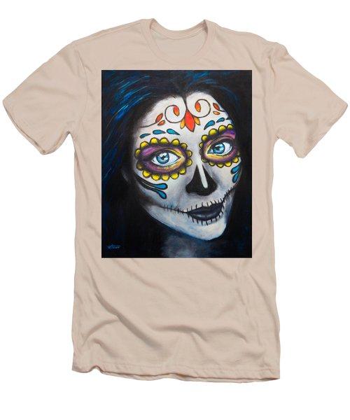 Sugar Sheana Men's T-Shirt (Slim Fit) by Arleana Holtzmann