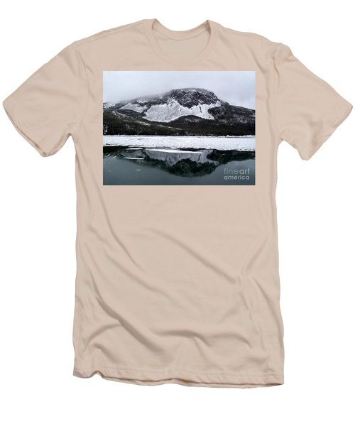 Men's T-Shirt (Slim Fit) featuring the photograph Sugarloaf Hill Reflections In Winter by Barbara Griffin