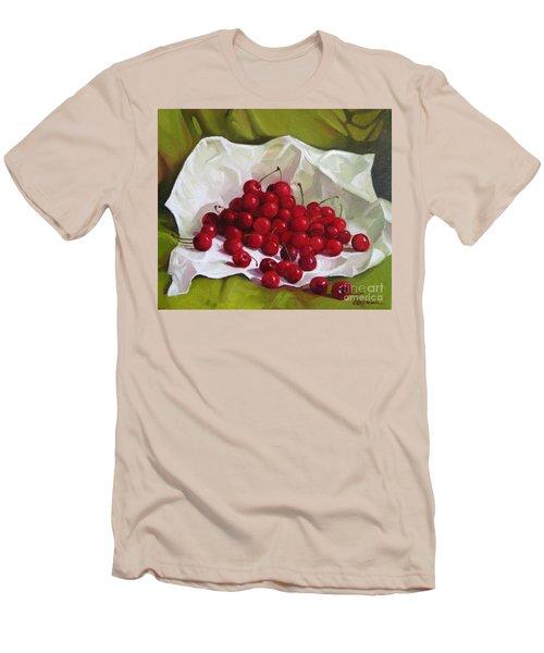 Summer Cherries Men's T-Shirt (Athletic Fit)