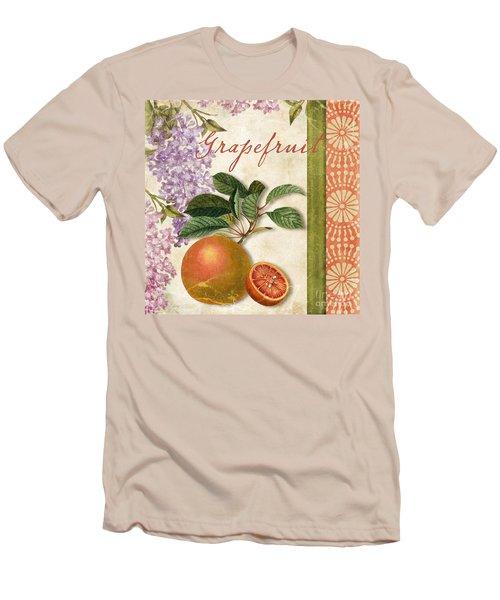 Summer Citrus Grapefruit Men's T-Shirt (Slim Fit) by Mindy Sommers