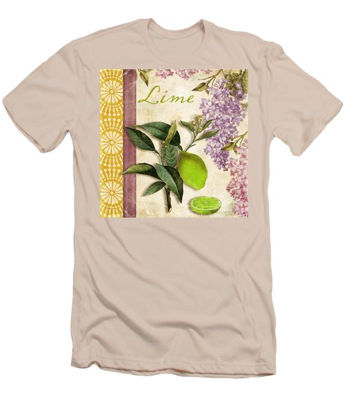 Summer Citrus Lime Men's T-Shirt (Slim Fit) by Mindy Sommers
