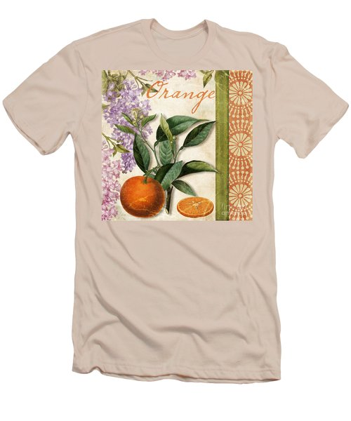 Summer Citrus Orange Men's T-Shirt (Slim Fit) by Mindy Sommers