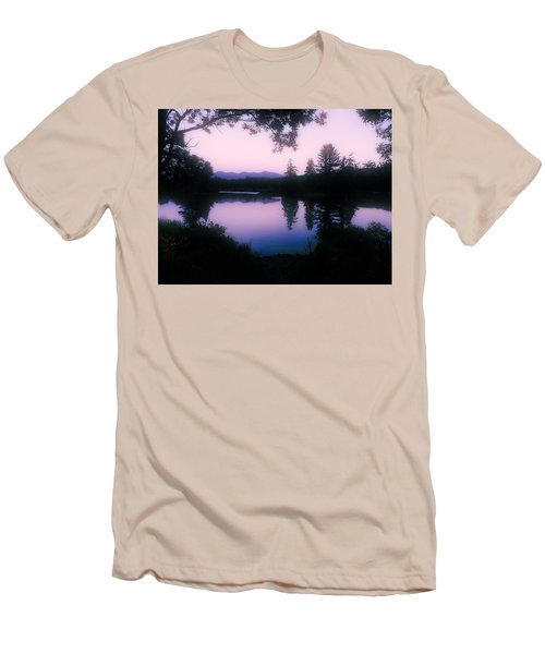 Men's T-Shirt (Slim Fit) featuring the photograph Summer Evening In New Hampshire by Robin Regan