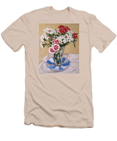 Summer Flowers Men's T-Shirt (Slim Fit) by Laura Aceto