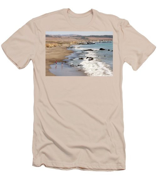 Men's T-Shirt (Slim Fit) featuring the photograph Summer In San Simeon by Art Block Collections