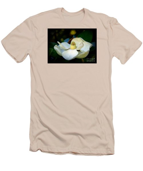 Men's T-Shirt (Slim Fit) featuring the photograph Summer Magnolia by Lisa L Silva
