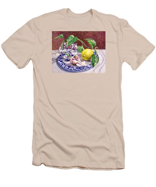 Summer Plate Men's T-Shirt (Slim Fit) by Laura Aceto