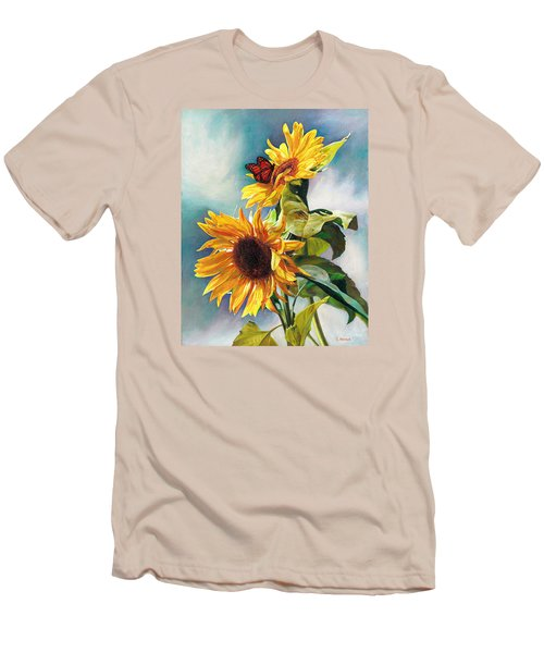 Men's T-Shirt (Slim Fit) featuring the painting Summer by Svitozar Nenyuk