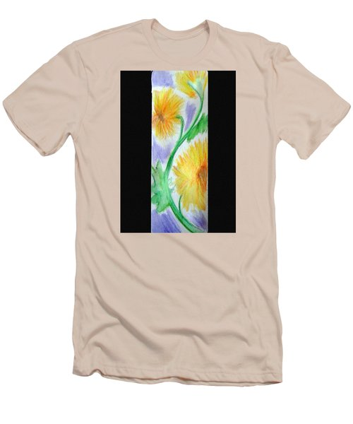 Sunflowers 27 Men's T-Shirt (Slim Fit) by Loretta Nash