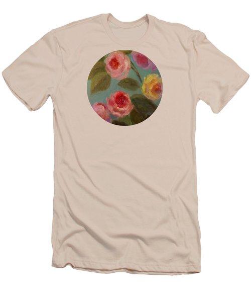 Sunlit Roses Men's T-Shirt (Slim Fit)