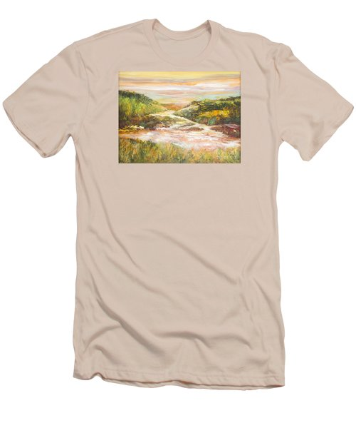 Sunlit Stream Men's T-Shirt (Slim Fit) by Glory Wood
