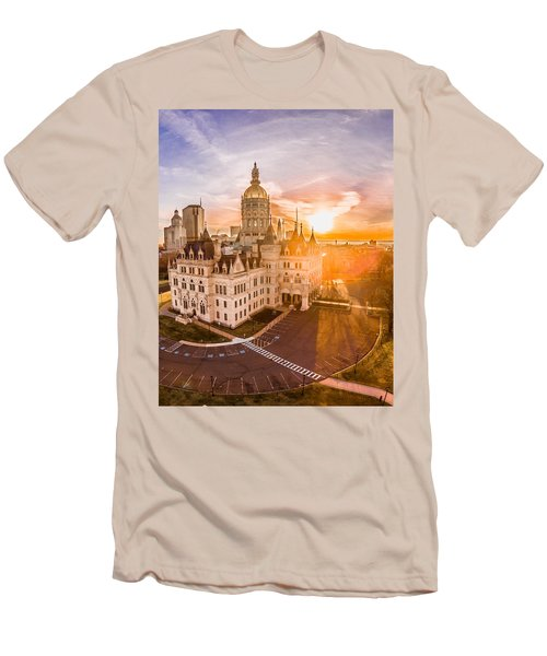 Men's T-Shirt (Slim Fit) featuring the photograph Sunrise In Hartford Connecticut by Petr Hejl