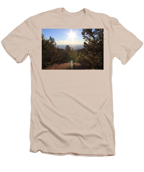 Men's T-Shirt (Slim Fit) featuring the photograph Sunrise Over Colorado Springs by Christin Brodie