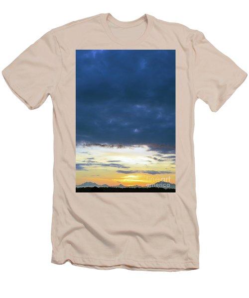 Sunrise Over The Cascades Men's T-Shirt (Athletic Fit)