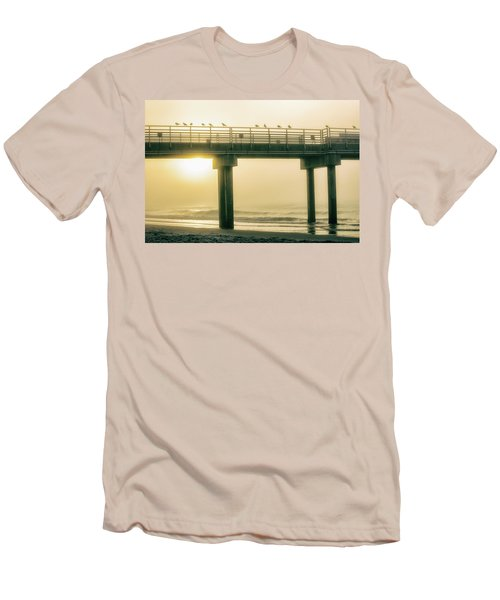 Men's T-Shirt (Slim Fit) featuring the photograph Sunrise Pier In Alabama  by John McGraw