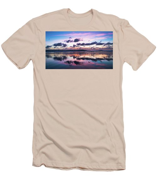 Sunrise Pink Wisps Delray Beach Florida Men's T-Shirt (Athletic Fit)