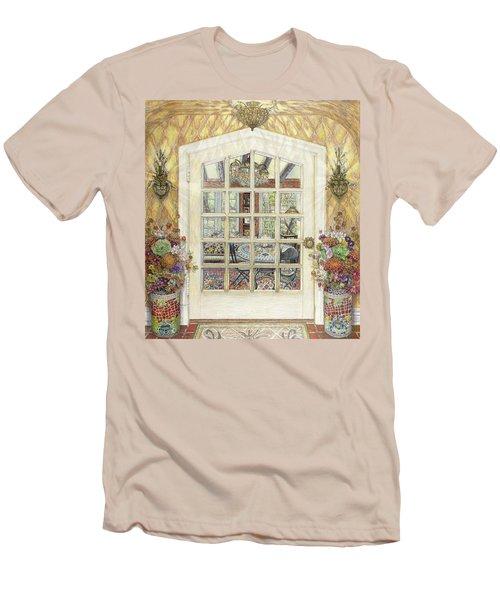 Sunroom Entrance Men's T-Shirt (Slim Fit) by Bonnie Siracusa