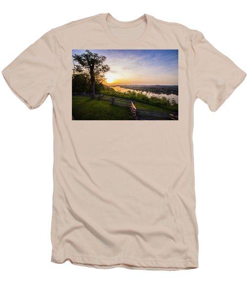 Sunset From Boreman Park Men's T-Shirt (Slim Fit) by Jonny D